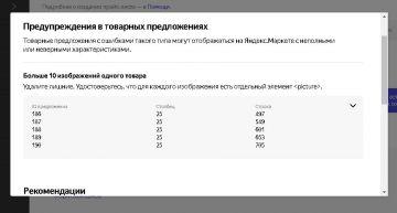 Okay cms - Лимит выгрузки изображений на Яндекс маркет
